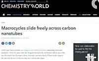 [Chemistry World] Macrocycles slide freely across carbon nanotubes
